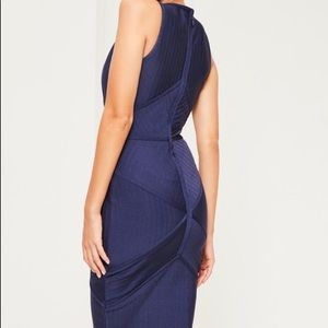 Missguided Dresses - Dark Blue Missguided Midi Bandage Dress